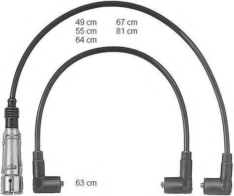 Провода высоковольтные комплект BERU ZEF612