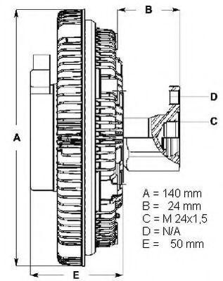 Вискомуфта BERU LK012