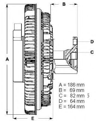 Сцепление, вентилятор радиатора BERU LK066