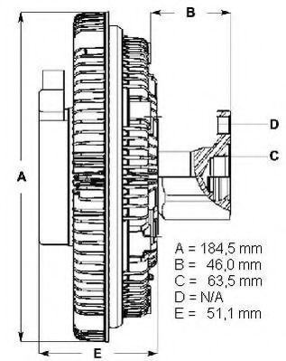 Сцепление, вентилятор радиатора BERU LK095