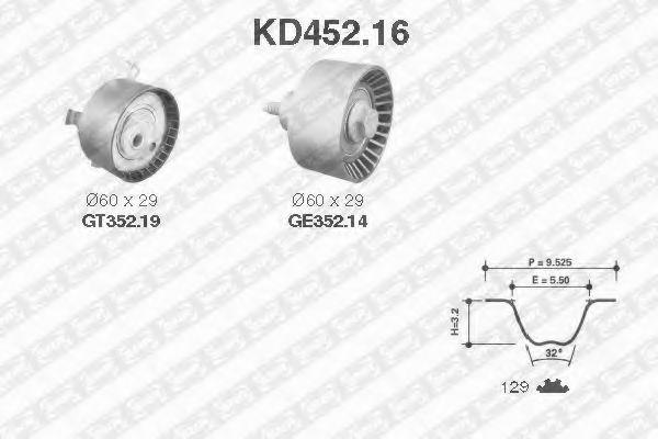 Ремкомплект ремня ГРМ NTN-SNR KD45216