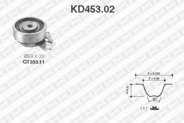Ремкомплект ремня ГРМ NTN-SNR KD45302