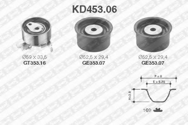 Ремкомплект ремня ГРМ NTN-SNR KD453.06