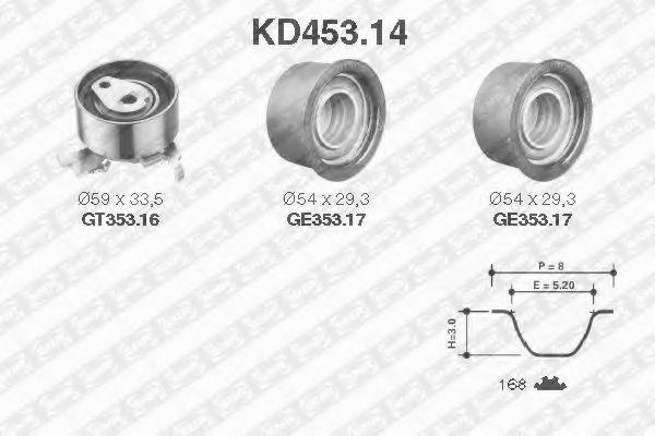 Ремкомплект ремня ГРМ NTN-SNR KD453.14