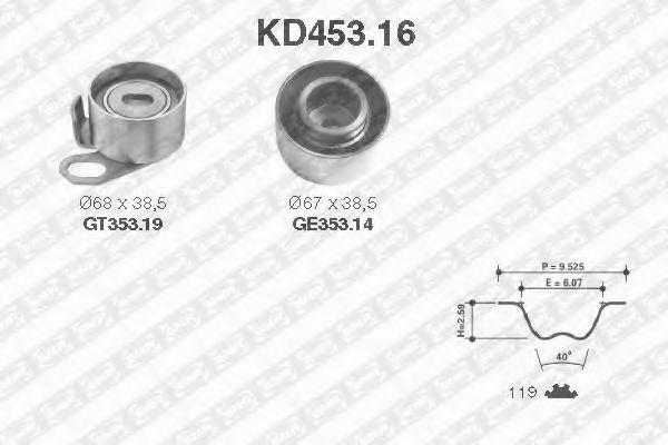Ремкомплект ремня ГРМ NTN-SNR KD453.16