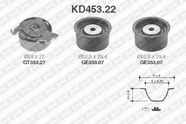 Ремкомплект ремня ГРМ NTN-SNR KD453.22