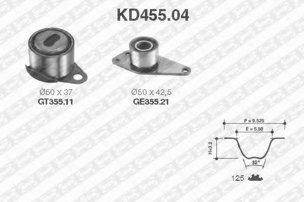 Ремкомплект ремня ГРМ NTN-SNR KD455.04