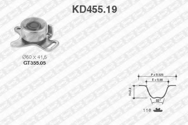 Ремкомплект ремня ГРМ NTN-SNR KD45519