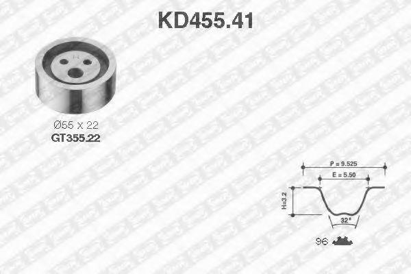 Ремкомплект ремня ГРМ NTN-SNR KD45541
