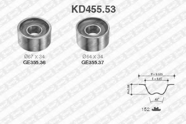 Ремкомплект ремня ГРМ NTN-SNR KD45553