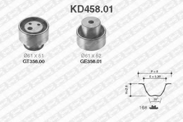 Ремкомплект ремня ГРМ NTN-SNR KD45801