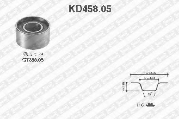 Комплект ремня ГРМ NTN-SNR KD45805