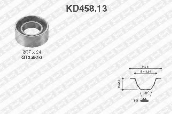 Ремкомплект ремня ГРМ NTN-SNR KD45813