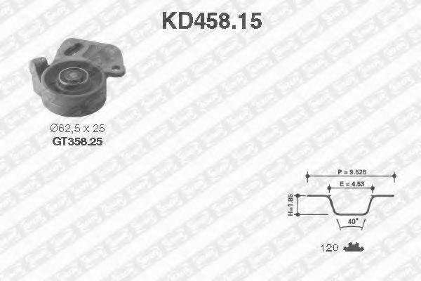 Ремкомплект ремня ГРМ NTN-SNR KD45815