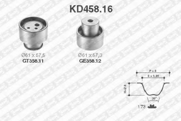 Ремкомплект ремня ГРМ NTN-SNR KD45816