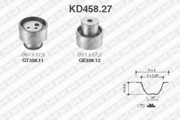 Комплект ремня ГРМ NTN-SNR KD45827