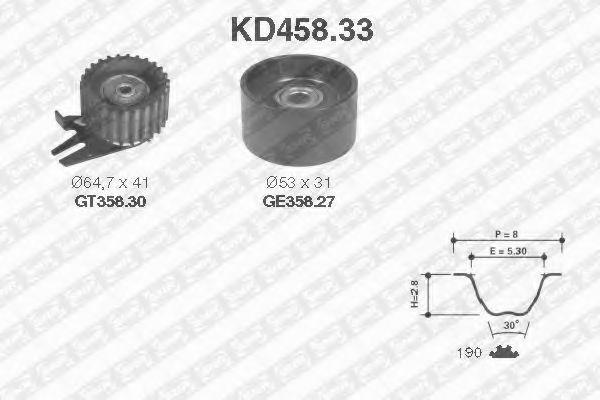 Комплект ГРМ NTN-SNR KD458.33