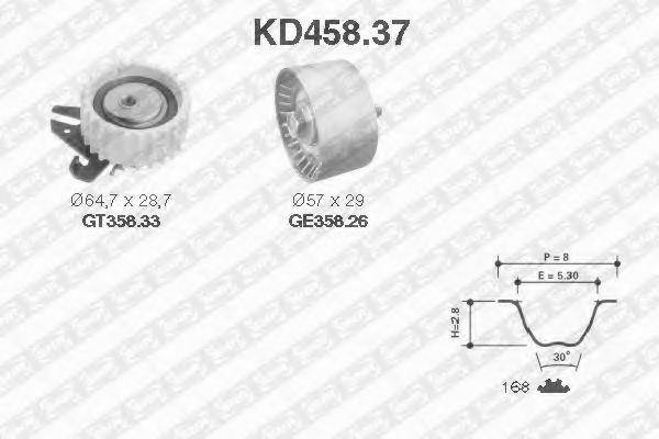 Ремкомплект ремня ГРМ NTN-SNR KD45837