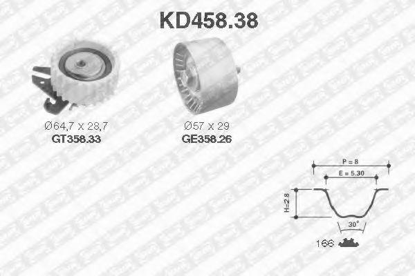 Ремкомплект ремня ГРМ NTN-SNR KD45838