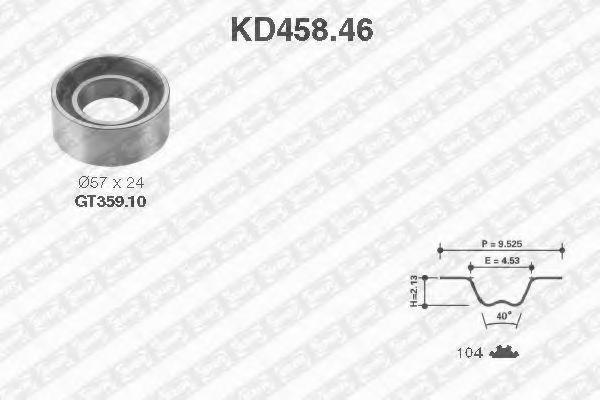 Ремкомплект ремня ГРМ NTN-SNR KD45846