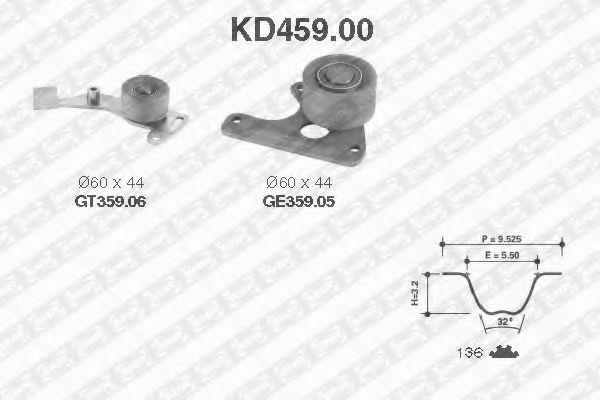 Ремкомплект ремня ГРМ NTN-SNR KD45900