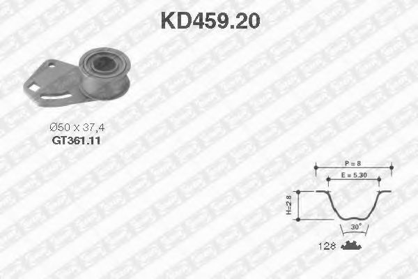 Ремкомплект ремня ГРМ NTN-SNR KD459.20