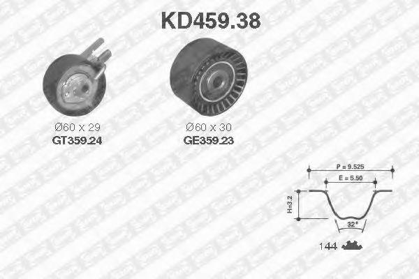 Ремкомплект ремня ГРМ NTN-SNR KD459.38
