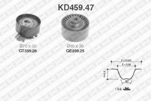 Ремкомплект ремня ГРМ NTN-SNR KD459.47