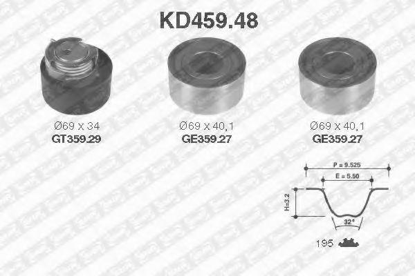 Ремкомплект ремня ГРМ NTN-SNR KD459.48