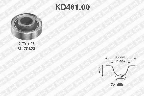 Ремкомплект ремня ГРМ NTN-SNR KD46100