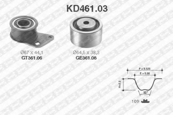 Ремкомплект ремня ГРМ NTN-SNR KD461.03