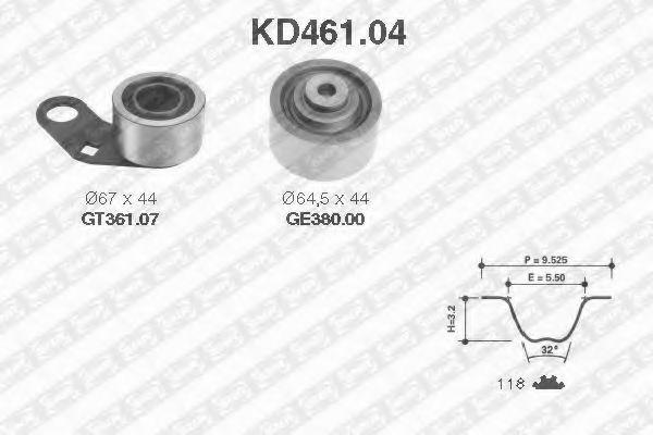 Ремкомплект ремня ГРМ NTN-SNR KD46104