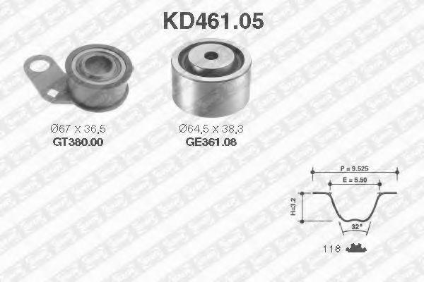 Ремкомплект ремня ГРМ NTN-SNR KD46105