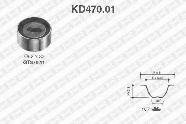 Ремкомплект ремня ГРМ NTN-SNR KD47001