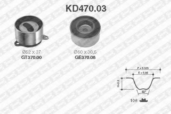 Ремкомплект ремня ГРМ NTN-SNR KD47003
