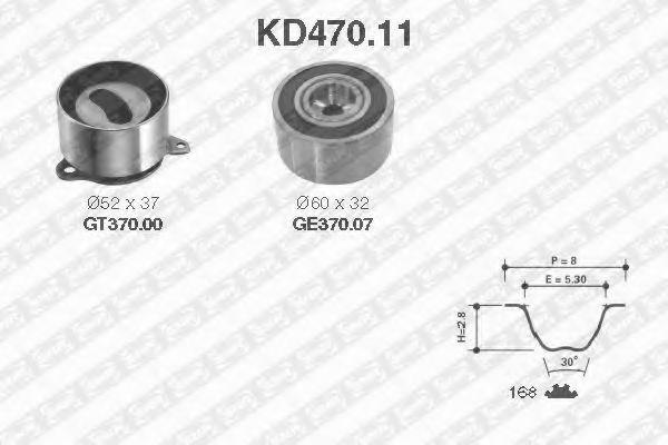 Ремкомплект ремня ГРМ NTN-SNR KD47011