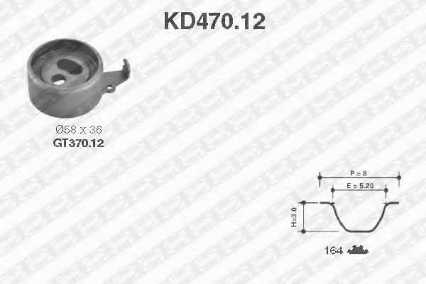 Ремкомплект ремня ГРМ NTN-SNR KD470.12