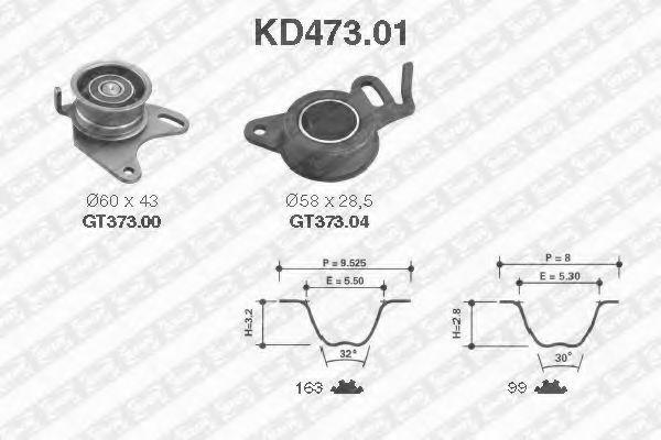 Ролик и ремень натяжителя NTN-SNR KD47301