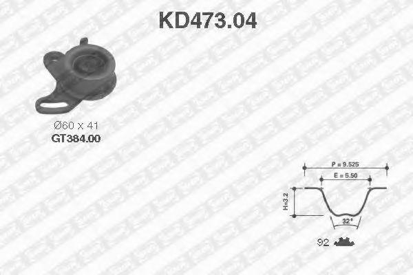 Ремкомплект ремня ГРМ NTN-SNR KD47304