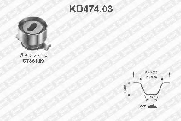 Ремкомплект ремня ГРМ NTN-SNR KD474.03