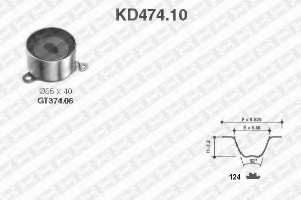 Ремкомплект ремня ГРМ NTN-SNR KD474.10