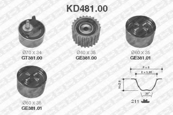 Ремкомплект ремня ГРМ NTN-SNR KD481.00