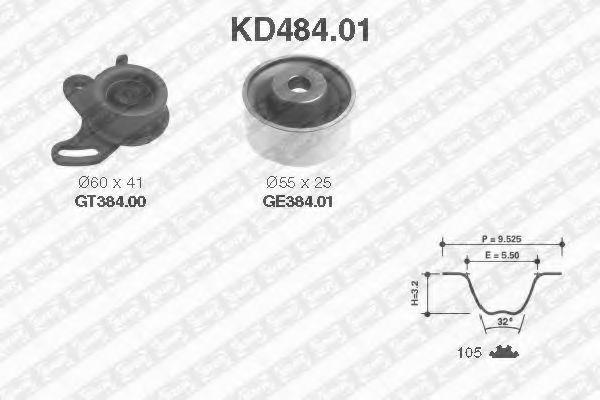Ремкомплект ролика NTN-SNR KD48401