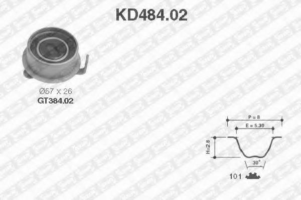 Ремкомплект ремня ГРМ NTN-SNR KD484.02