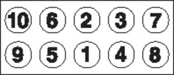 Болты ГБЦ комплект PAYEN HBS036