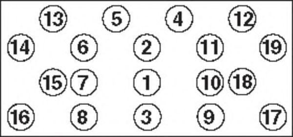 Комплект болтов головки цилидра PAYEN HBS286