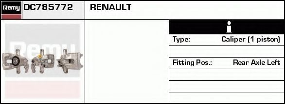 Тормозной суппорт DELCO REMY DC785772