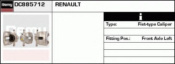Тормозной суппорт DELCO REMY DC885712