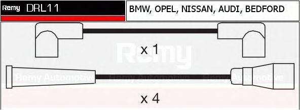 Комплект проводов зажигания DELCO REMY DRL11