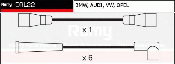 Комплект проводов зажигания DELCO REMY DRL22